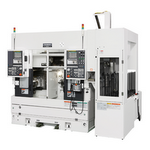 Takisawa TT-2000G Fully Automated Twin Spindle CNC Lathe with Single gantry loader - MJB Precision Engineering Ltd
