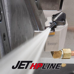ISCAR JETHP tools are designed to operate at extreme pressure and high cutting rates. They deliver a higher performance level than their conventional internal coolant counterparts made for lower pressure service. This additional benefit is provided when using the JETHP line also with conventional machine pressure.
